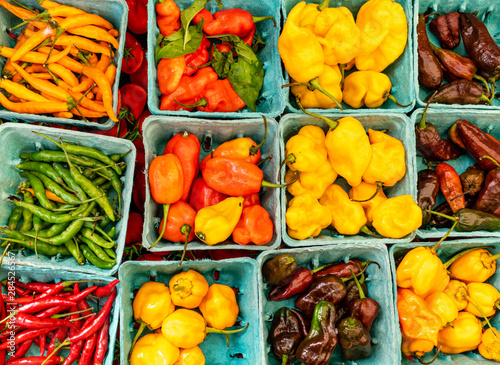 Close up of colorful  vegetables at Satutday market  in Union Square, New York.