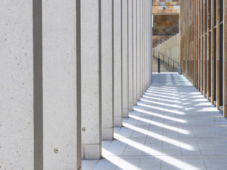 Architectural composition with modern building facade details