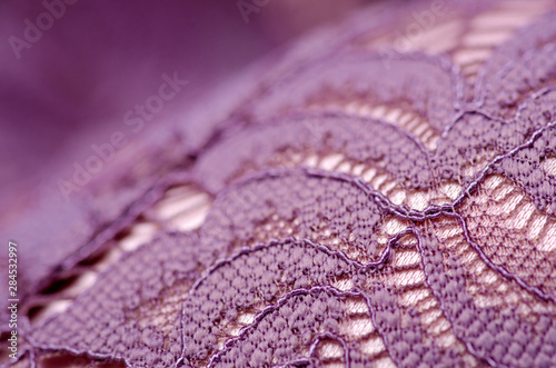 Valokuva  Pink purple lace underwear texture macro blur background