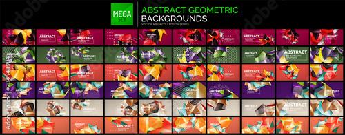 Fotografía Mega collection of geometric polygonal shapes backgrounds