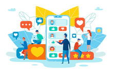 Social Network Communication Flat Vector Concept
