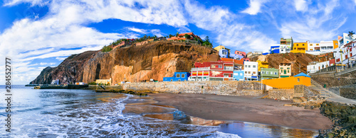 Grand canary island (Gran Canary) - beautiful coastal village Puerto de Sardina. Canary islands