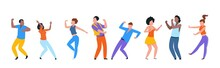 Dancing People. Happy Trendy M...