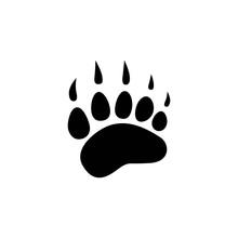 Black Bear Trace Silhouette. V...