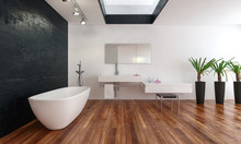 Spacious Modern Bathroom With ...