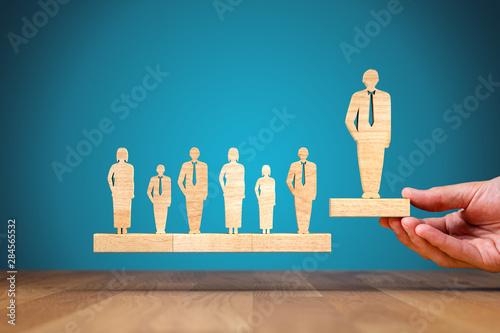 Successful leader coach motivation concept