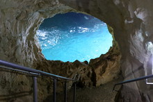 Grottoes In The Mountains Of Rosh HaNikra On The Shores Of The Mediterranean Sea In The North Of Israel