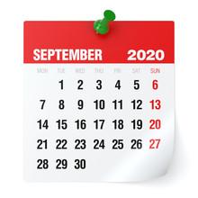 September 2020 - Calendar. Iso...