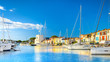Leinwandbild Motiv View Of Colorful Houses And Boats In Port Grimaud During Summer Day-Port Grimaud, France