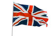 United Kingdom flag blowing on studio