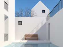 Minimal Style Pool Courtyard 3...