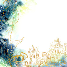 Watercolor Underwater Card Wit...