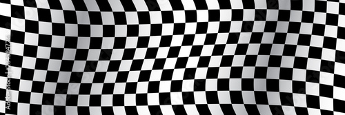 Fotografiet  Banner, race flag background, checkered flag, car racing sport, checkerboard – s