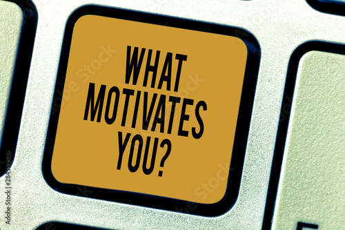 Handwriting text writing What Motivates Youquestion Canvas Print