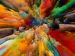 Leinwandbild Motiv Colorful Splatter