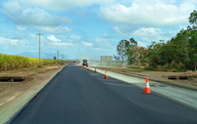 Roadworks On A Country Highway