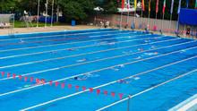 Swimmers In The Swimming Pool. Varna, Bulgaria