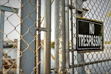 Sign No Trespassing Warning Si...