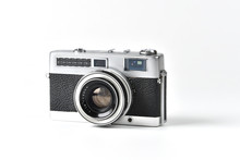 Vintage SLR Camera Isolated On...