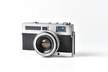 Vintage SLR Camera Isolated On...