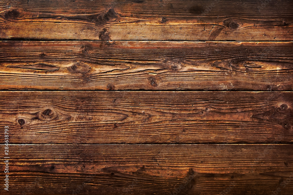 Fototapety, obrazy: Brown wood plank texture background. hardwood floor