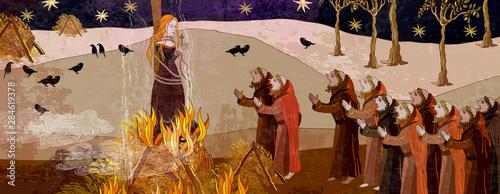 Obraz na plátně  Medieval scene