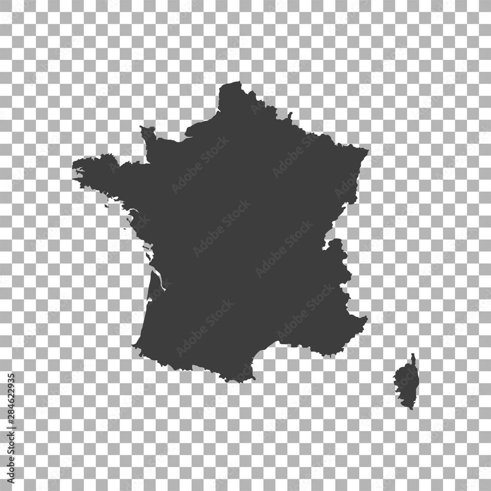 Fototapeta map of France