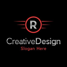 Letter R Automotive Creative Business Logo