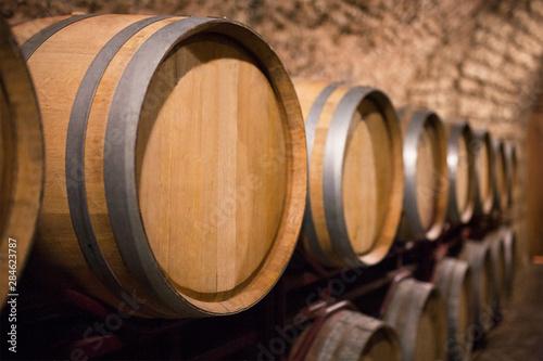 Slika na platnu wine barrels. wine cellar and old winery