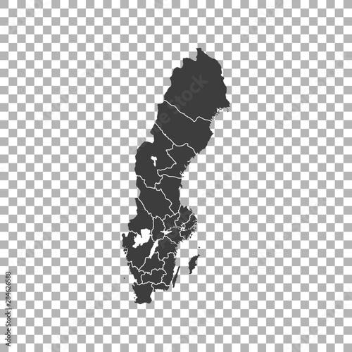 Fotografía  map of Sweden