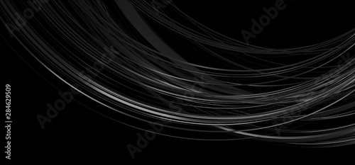 Fototapeta Abstract 3d render of dark lines, modern background design obraz na płótnie