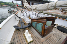 Bow Of A Schooner With Anchor ...