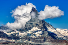 HDR Panorama Of Famous Matterhorn Near Zermatt In Switzerland