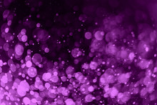 Abstract Purple Bokeh Defocus Background.