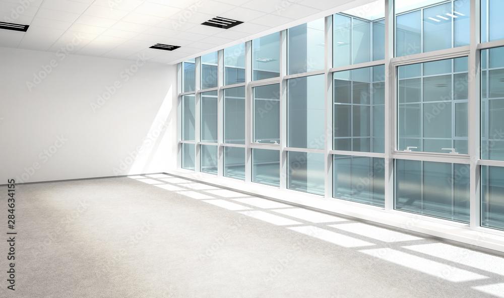 Fototapety, obrazy: Empty Business Office Area - 3d visualization