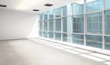 Empty Business Office Area - 3d visualization - 284634155