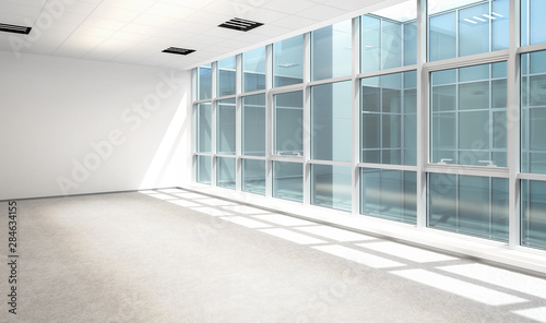 Empty Business Office Area - 3d visualization