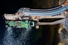 Ship Ferry Landing Arrival Aer...