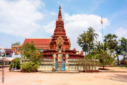 Buddhist Temple in a rural area of Cambodia
