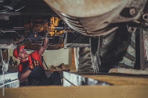 Fototapeta Heavy Machinery Technician obraz