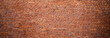 Panoramic Old urban Red Brick Wall Background.