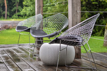 Metal Chairs On Outdoor Terrace