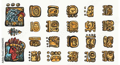 Fotografía Mayan alphabet