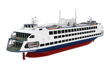 Passenger Ferry Boat Isolated