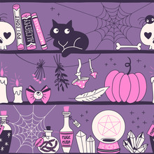 Witchy Stuff Hand Drawn Vector...