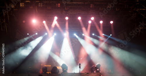 lights at stage or concert show. night party - 284645165