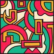 graffiti colored geometrical objects illustration