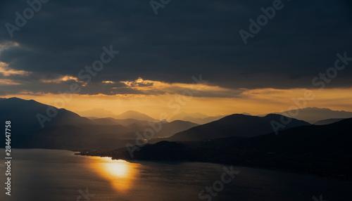 Fotografie, Obraz  View of Luino Lake Maggiore