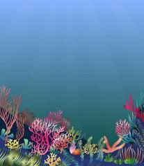 Fototapeta na wymiar Underwater seascape scene