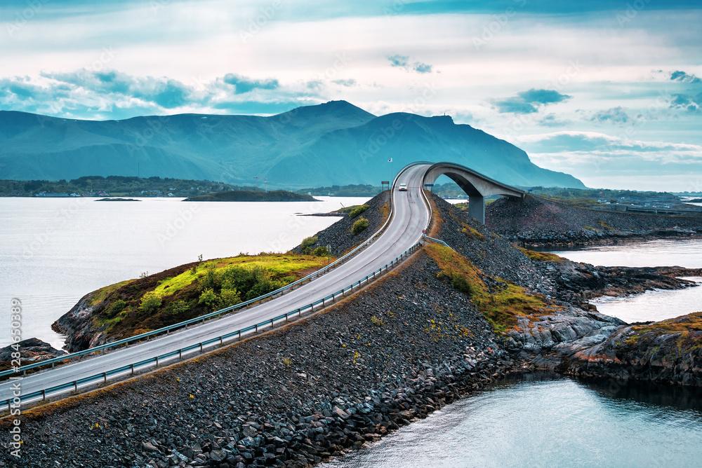 Norwegian atlantic road bridge